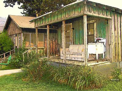 Delta Sharecropper Cabin - All The Conveniences Poster