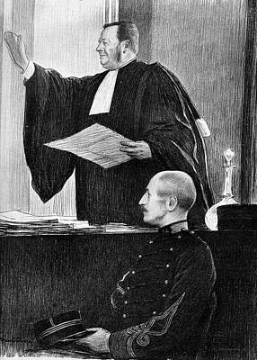 Demange And Dreyfus In Court Poster by Collection Abecasis
