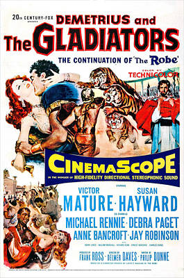 Demetrius And The Gladiators, Us Poster by Everett