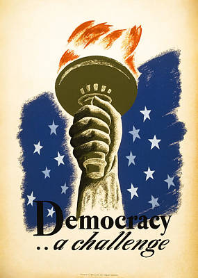 Democracy ... A Challenge W P A Poster C. 1938 Poster