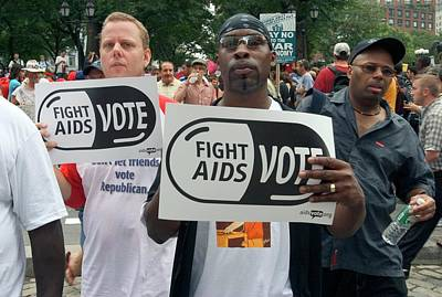 Demonstration For Aids Funding Poster by Jim West