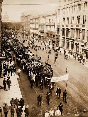Demonstration On The Nevski Prospect, Petrograd Poster by Litz Collection