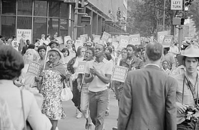 Demonstrators In The Poor Peoples March Poster by Stocktrek Images