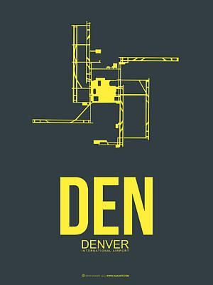 Den Denver Airport Poster 1 Poster by Naxart Studio