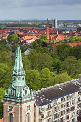 Denmark, Jutland, Aalborg, Elevated Poster