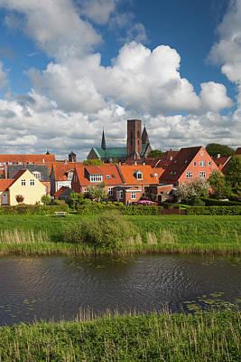 Denmark, Jutland, Ribe, Town View Poster
