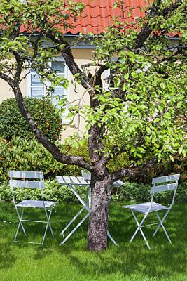 Denmark, Jutland, Skagen, Garden Chairs Poster