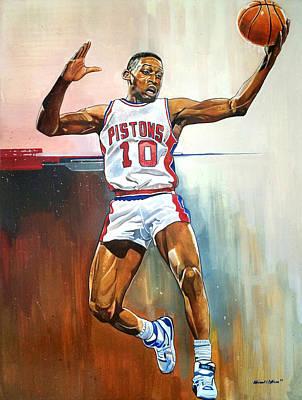 Dennis Rodman Bad Boy Pistons Poster by Michael  Pattison