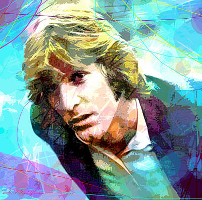 Dennis Wilson - Pacific Ocean Blue Poster by David Lloyd Glover