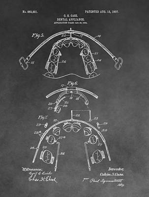 Dental Braces Patent Poster by Dan Sproul
