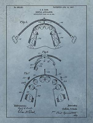 Dental Braces Patent Design Poster by Dan Sproul