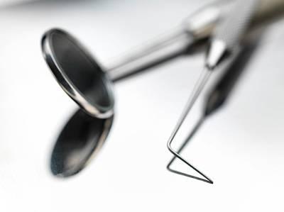 Dental Instruments Poster by Tek Image