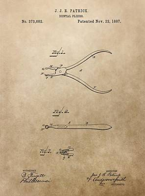 Dental Pliers Patent Design Poster by Dan Sproul