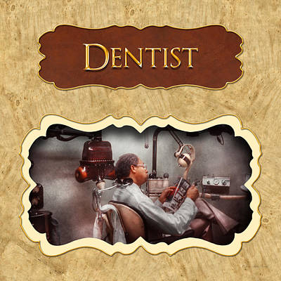 Dentist Button Poster by Mike Savad