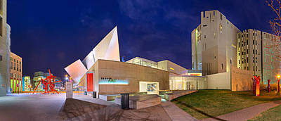 Denver Art Museum At Night Poster by James O Thompson