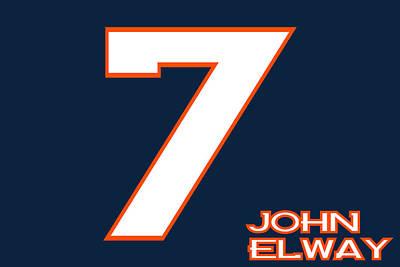 Denver Broncos John Elway Poster