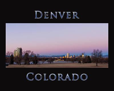 Denver Colorado Sunrise Poster