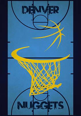 Denver Nuggets Court Poster by Joe Hamilton