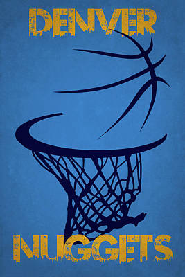 Denver Nuggets Hoop Poster by Joe Hamilton