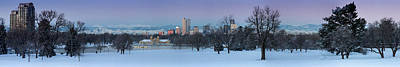 Poster featuring the photograph Denver Skyline From City Park by Kristal Kraft
