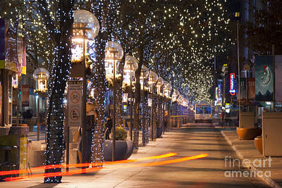 Denver's 16th Street Mall At Christmas Poster