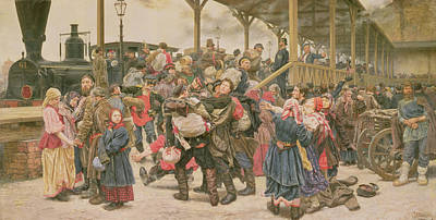 Departing For The War, 1888 Poster