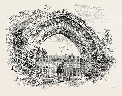 Derby, Ruined Arch Leading To Vestibule Of The Chapter-house Poster by English School