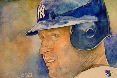 Derek Jeter Poster by Nigel Wynter
