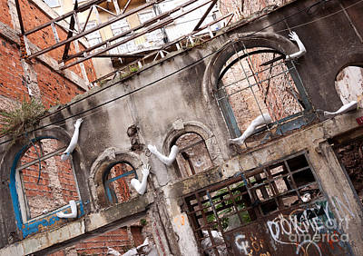 Derelict Wall Of Lost Limbs 01 Poster by Rick Piper Photography