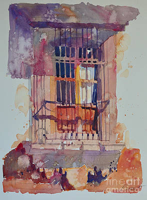 Poster featuring the painting Derelict Window by Roger Parent
