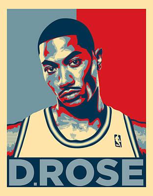 Derrick Rose Poster by Taylan Apukovska
