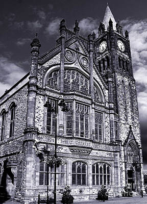 Derry Guildhall Poster by Nina Ficur Feenan