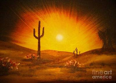 Desert Aglow Poster by Becky Lupe