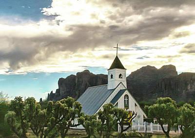 Desert Church Poster by Kari Brooks