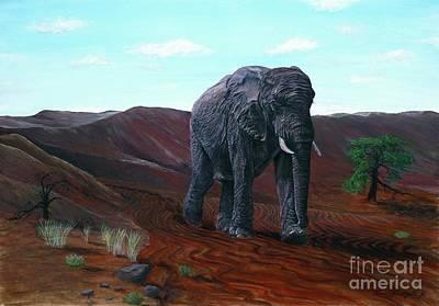 Desert Elephant Poster