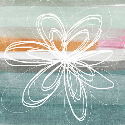 Desert Flower- Contemporary Abstract Flower Painting Poster