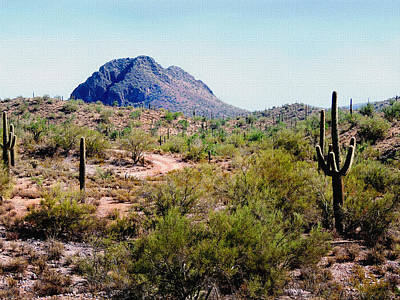 Desert Hills Poster by Gordon Beck