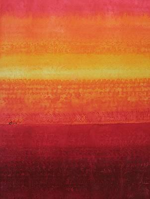 Desert Horizon Original Painting Poster