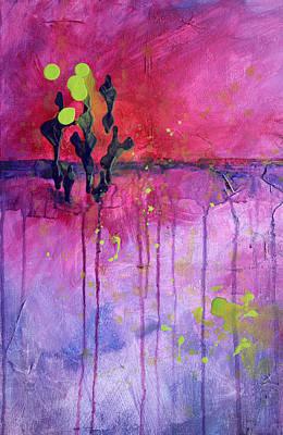 Desert Landscape Abstract Poster by Nancy Merkle