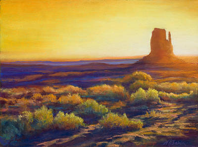 Desert Morning Poster