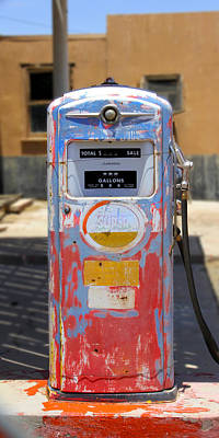 Desert Mountain Super Gasoline - Bennett Gas Pump Poster by Mike McGlothlen