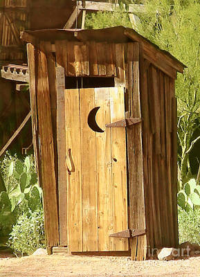 Desert Outhouse Poster