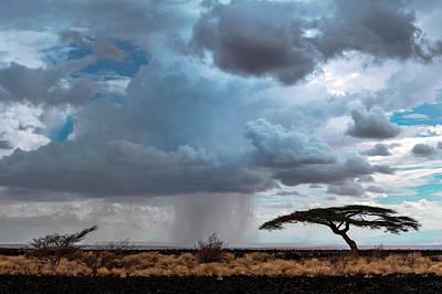 Desert Rainclouds Poster