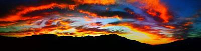 Poster featuring the photograph Desert Sunset 15 by Chris Tarpening