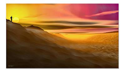 Poster featuring the digital art Desert Sunset by Tyler Robbins