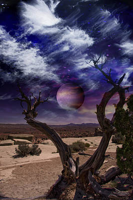Poster featuring the digital art Desert Tree by Bruce Rolff