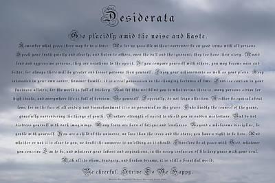 Desiderata In The Sky Poster