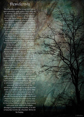 Desiderata Of Happiness - Vintage Art By Jordan Blackstone Poster