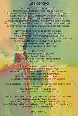 Desiderata - Opus 42 Poster by Paulette B Wright