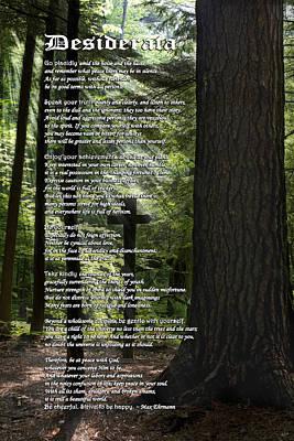 Desiderata Poem Poster by Christina Rollo